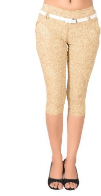 LGC Fashion Women's Beige Capri at flipkart