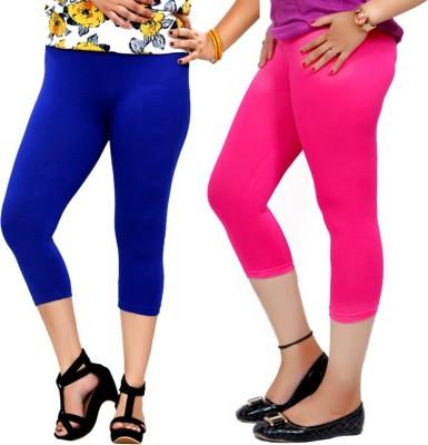 By The Way Fashion Women,s Blue, Pink Capri