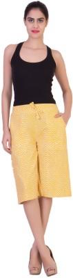 Curvyy Women's Yellow Capri