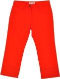 Noqnoq Capri For Girls Solid Cotton (Ora...