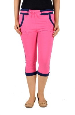 Mijaaz Fashion Women's Pink Capri