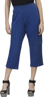 MansiCollections Women's Blue Capri