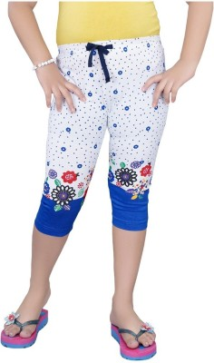 Mint Navy Blue Cotton Jeggings-16 Baby Girl's Blue Capri