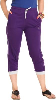 Colors & Blends Cl-101 D. Purple Women's Purple Capri at flipkart
