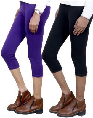 IndiStar Women's Purple, Black Capri