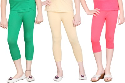 Sini Mini Girls Green, Beige, Pink Capri