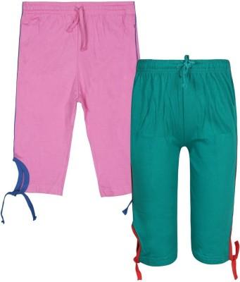 Jazzup Girl's Blue, Pink Capri