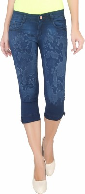 Bat Comfortable Women,s Dark Blue Capri