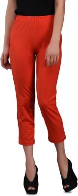Finesse 3/4th Women's Red Capri