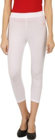 New Darling Women's White Capri