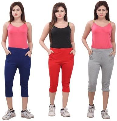 Bfly Women's Blue, Red, Grey Capri