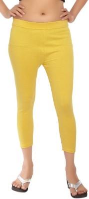 Comix Fashion Women's Yellow Capri
