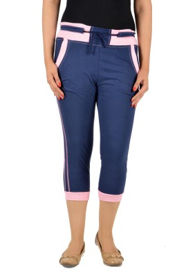 Mijaaz Fashion Women's Dark Blue Capri