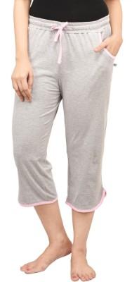 Nite Flite Women's Grey, Pink Capri