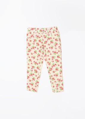 United Colors of Benetton Girl,s White, Pink Capri