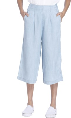 Only Women's Light Blue Capri at flipkart