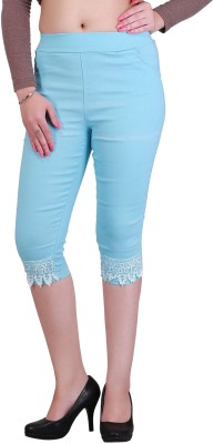 Jewelizer Fashion Women's Blue Capri