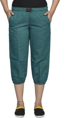 Flamboyant Fashion Women's Green Capri