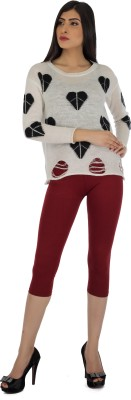 Legrisa Fashion Women's Maroon Capri