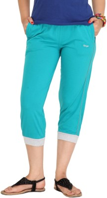 Colors & Blends Cl-101 Firozi Women's Light Blue Capri at flipkart