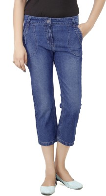 Uber Urban Allyn Women's Dark Blue Capri at flipkart
