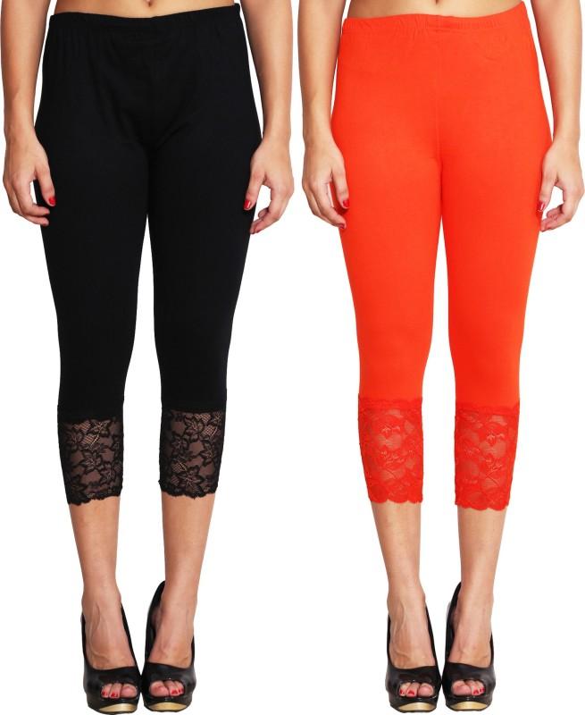 LGC Women's Black, Orange Capri