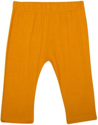 De Moza Viscose Lycra 3/4th Solid 6-7 Yrs Dark Yellow Girl's Yellow Capri