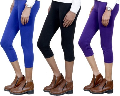 IndiStar Women's Blue, Black, Purple Capri