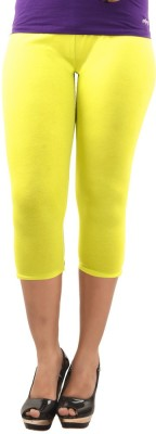 Dollar Missy Fasion Women's Yellow Capri