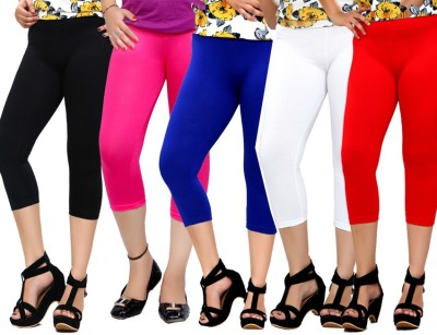 By The Way Fashion Women,s Black, Pink, Blue, White, Red Capri