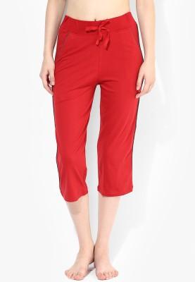Red Rose Women's Red Capri