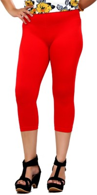 By The Way Fashion Women,s Red Capri