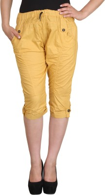 Vestire Women,s, Girl's Yellow Capri