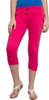 Alibi Women's Pink Capri best price on Flipkart @ Rs. 325