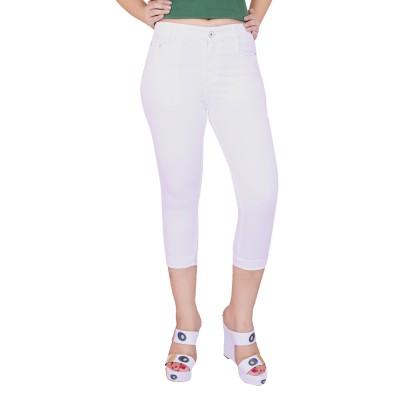 FCK-3 Fashion Women's White Capri