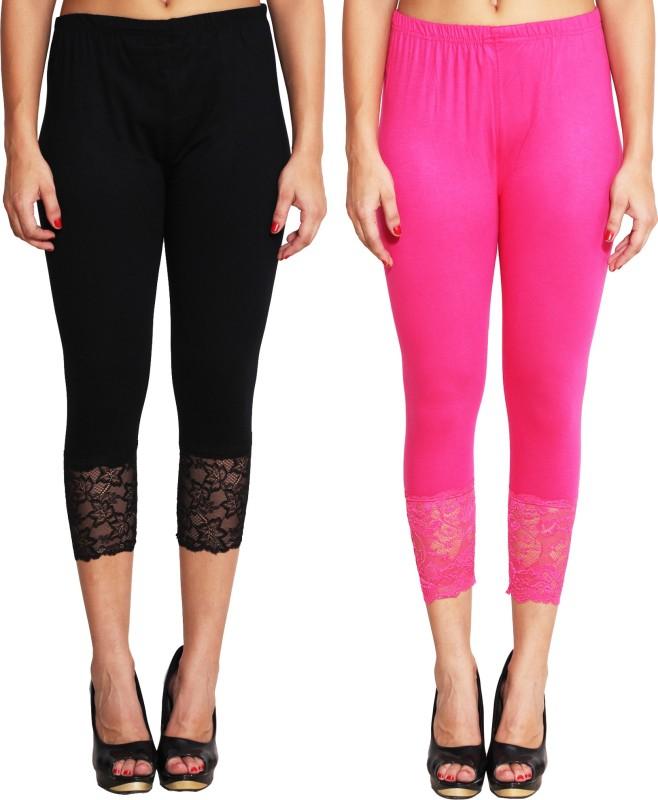 LGC Women's Black, Pink Capri