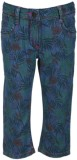 UFO Capri For Girls Printed Cotton (Blue...
