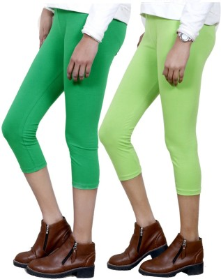 IndiStar Women's Green, Green Capri