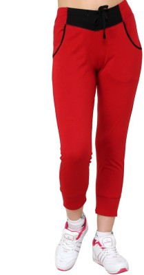 Cayman Fashion Women's Red Capri