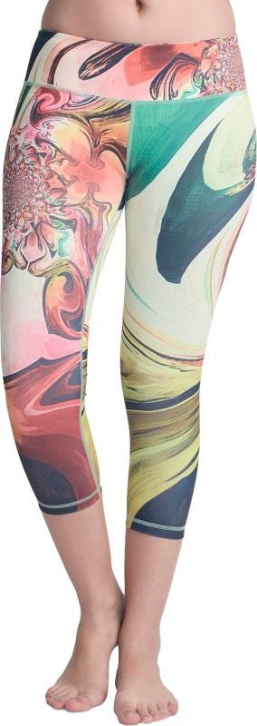 La Zoya Floral Print Women's Multicolor Tights