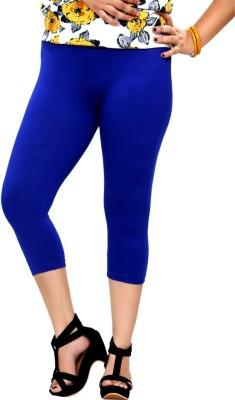 By The Way Fashion Women,s Blue Capri