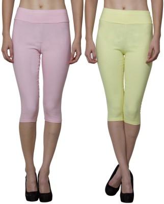 Both11 Women's Yellow, Pink Capri