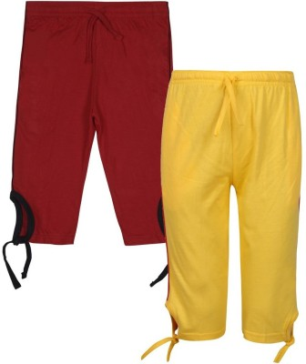 Jazzup Girl's Yellow, Red Capri