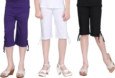 Sini Mini Girls Purple, White, Black Capri