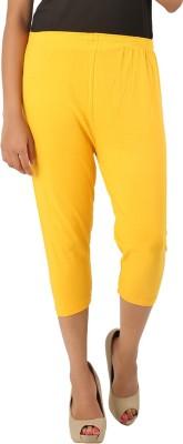 CURVIVA Women's Yellow Capri