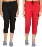 Notyetbyus Women's Black, Red Capri