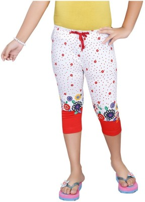 Mint Red Cotton Jeggings-16 Baby Girl's Red Capri