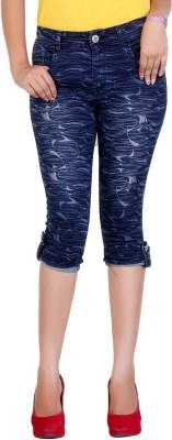 F Fashion Stylus Women's Blue Capri