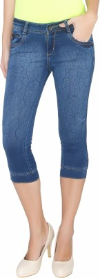 Bat Comfortable Women,s Blue Capri