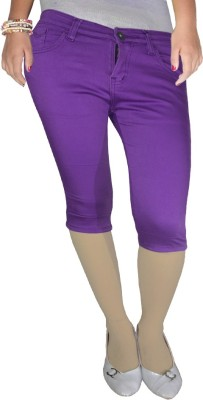 Anjan Women's Purple Capri